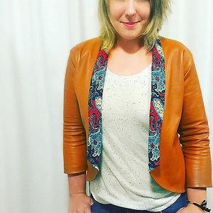 The Sew to Grow Bespoke Blazer in Leather
