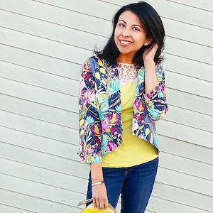 The Sew to Grow Bespoke Blazer in Floral
