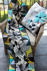 Deborah Louie Daisy Path Runner and Cushion