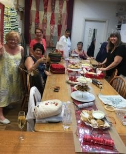 Wednesday Women Xmas Parties in the old shop