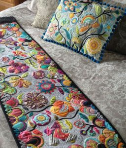 Deborah Louie Spring Garden Runner and Cushion