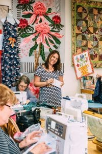 Lindsey Rae in class at Berry Quilt & Co.