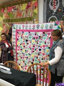 Deborah Louie's Hearts and Lollipops Quilt by Ari Nash