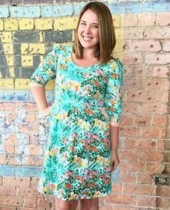 Lindsey Rae pattern designer and teacher. Owner of Sew to Grow Pattern Label.