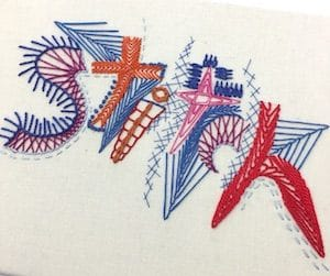 Jo Dixey Embroidered Word Stitch