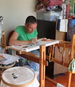Jo Dixey in her Studio