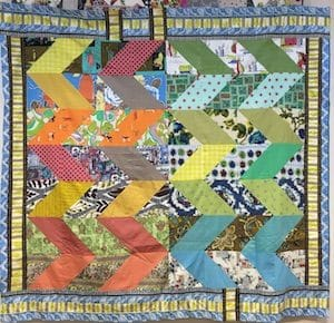 Sheena Chapman Rainbow Chevron Quilt