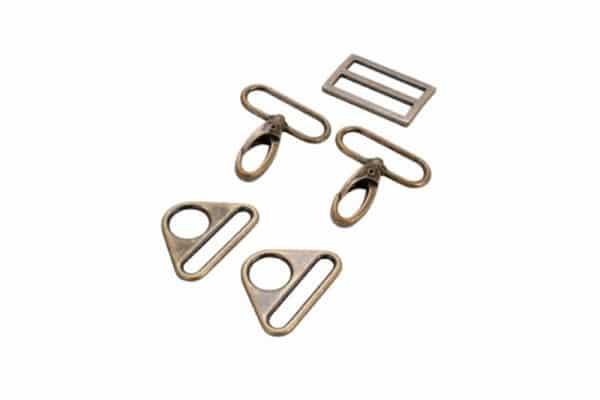 byannie-triangular hardware-set-1.5 Antique Brass
