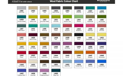 Sue Spargo Felted Wool Fabric Color Chart