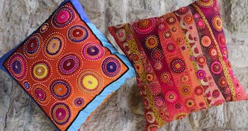 Wendy Williams Red Centre Cushions